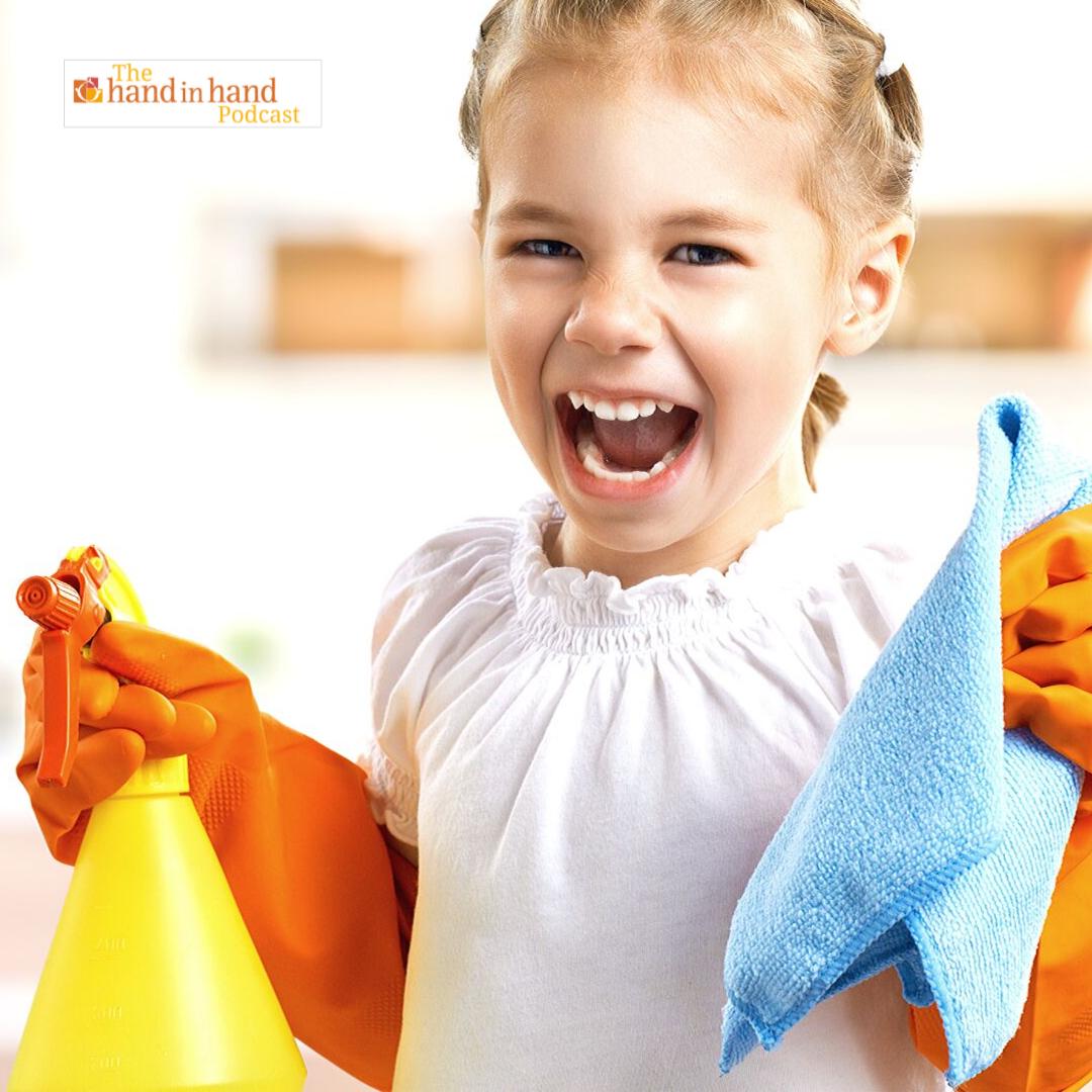 little girl who loves chores