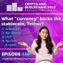 """Artwork for What """"currency"""" backs the stablecoin, Tether? A) Seashells 2) Rai Stones 3) USD 4) No One Knows! #146"""