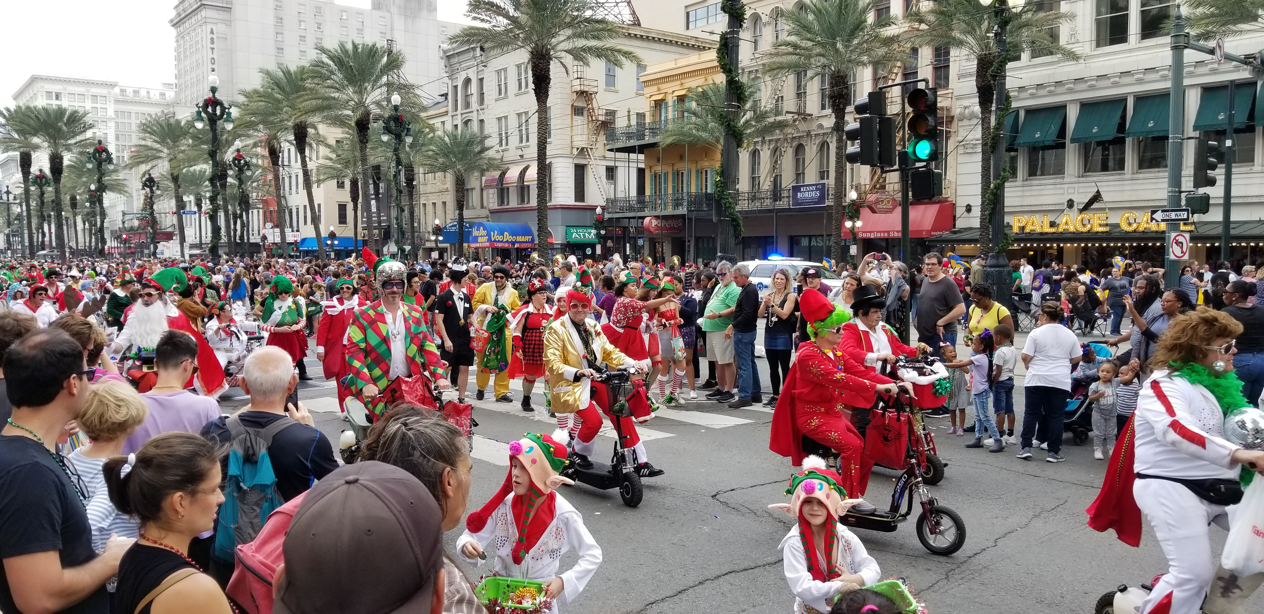New Orleans Santa Parade, by Elvis
