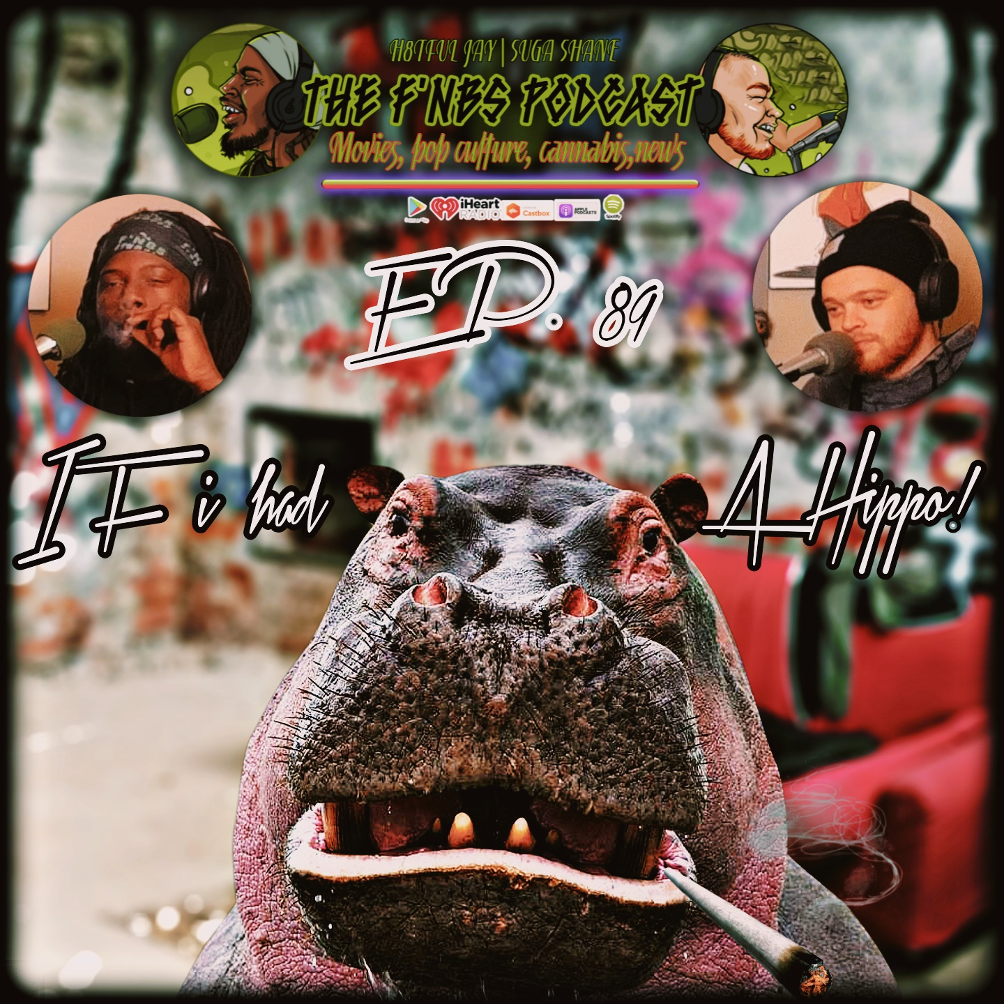 """Artwork for THE F'NBS PODCAST EP. 89 """"IF I HAD A HIPPO"""""""