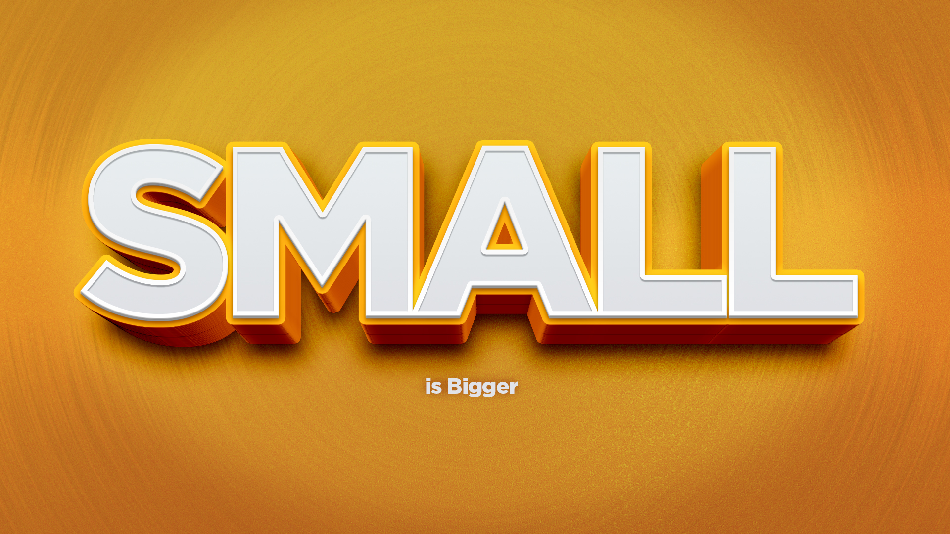 Artwork for Small is Bigger: Pastor Robert Brosher: God Uses Small things Mightily 7-5-15