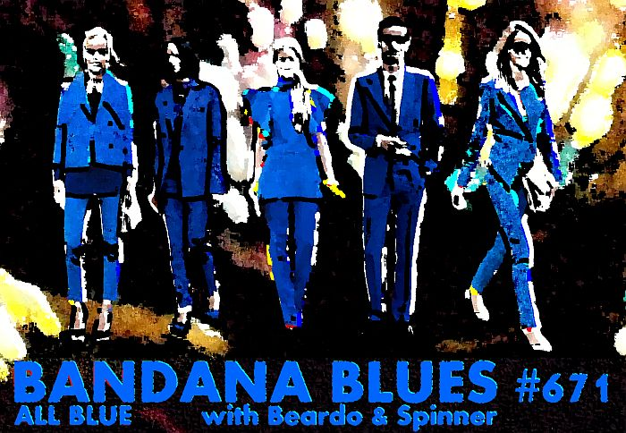 Bandana Blues #671 Blue Blue Blue