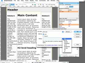 Create printer friendly stylesheets in Dreamweaver CS3