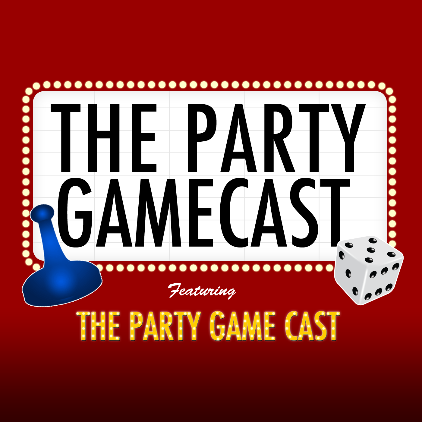 The Party Gamecast featuring the Party Game Cast logo