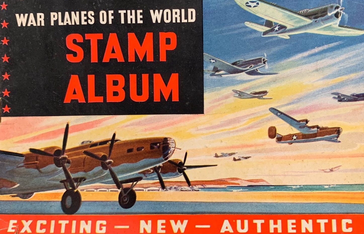 WWII Airplane Stamp Book Cover