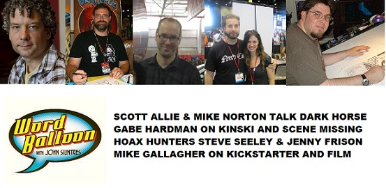 Word Balloon Podcast Scott Allie Mike Norton Gabe Hardman Jenny frison Steve Seeley Mike Gallagher