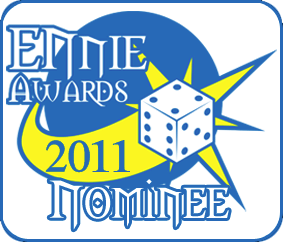 Kicked In the Dicebags has received an Honorable Mention as an Ennie Nominee!
