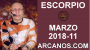 Artwork for ESCORPIO MARZO 2018-11-11 al 17 Mar 2018-Amor Solteros Parejas Dinero Trabajo-ARCANOS.COM
