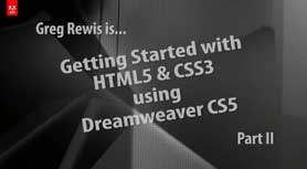 Creating HTML 5 and CSS3 in Dreamweaver CS5 - Part II