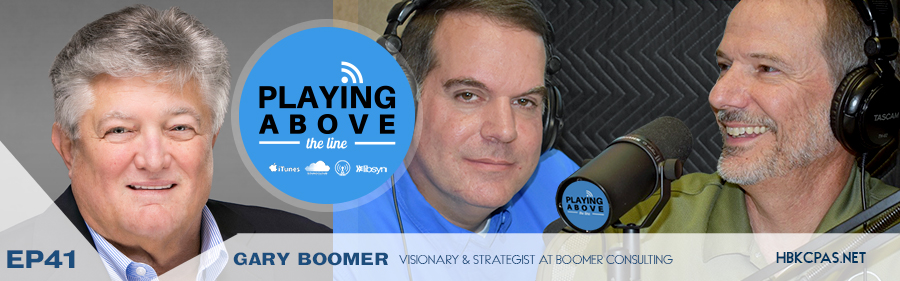 Gary Boomer on the Playing Above The Line Podcast