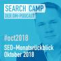 Artwork for SEO-Monatsrückblick Oktober 2018: Redirects, Domain-Wechsel, Google Lense + mehr