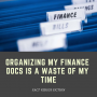 Artwork for FVF #25: Organizing My Finance Docs Ain't Worth My Time