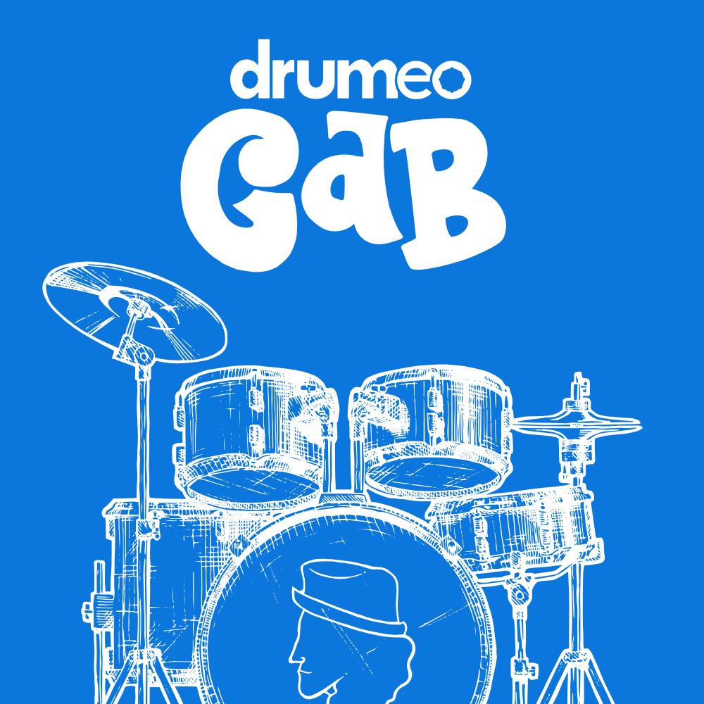 Drumeo Gab Podcast show art