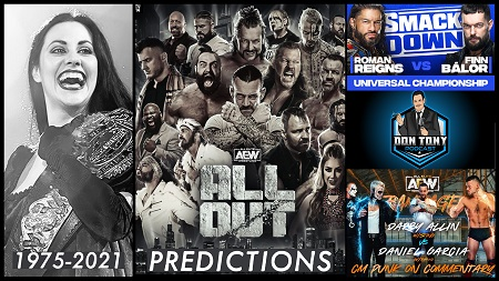 The Don Tony Show 9/4/21 (AEW All Out Predictions / Daffney / Don West Cancer In Remission show art