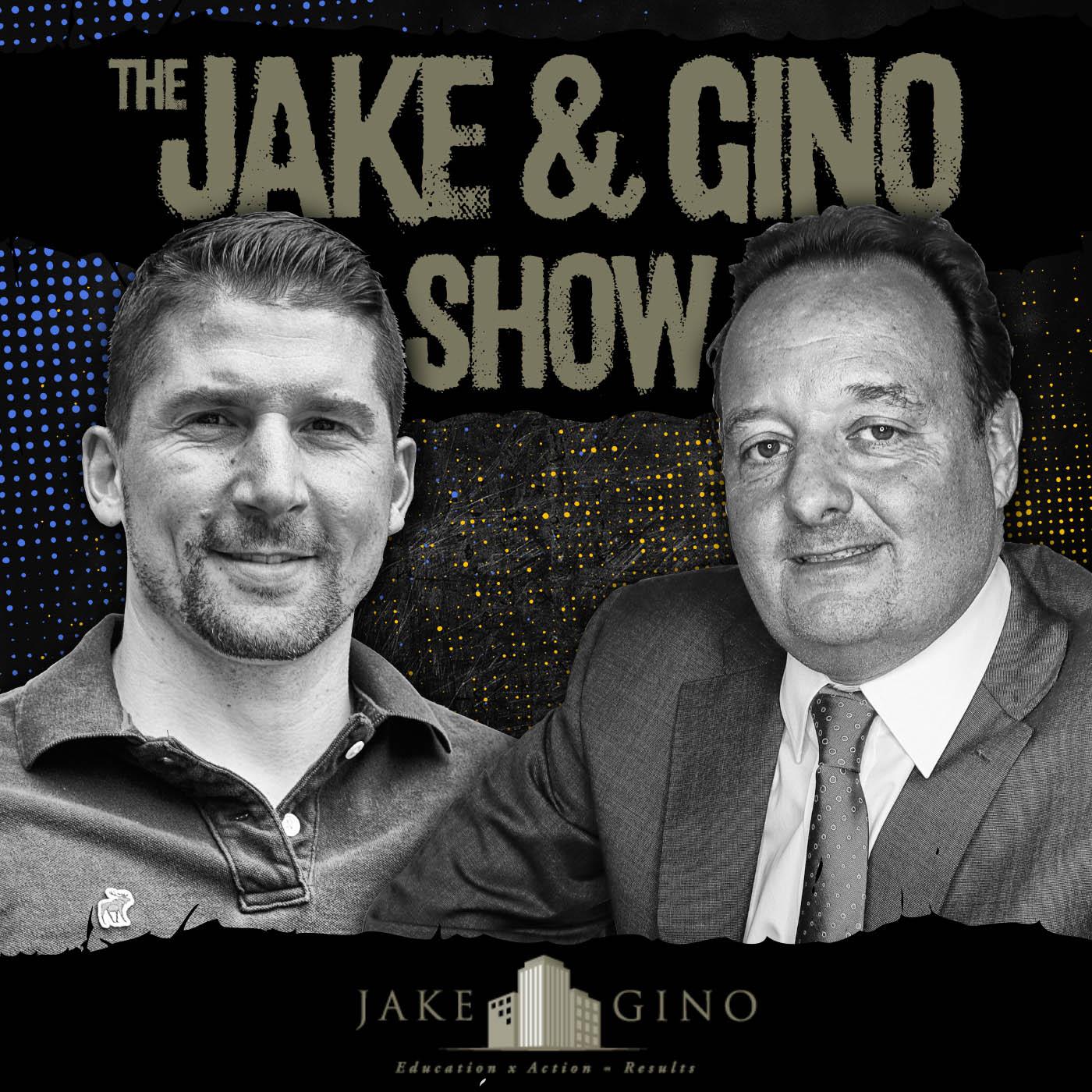 Jake and Gino Podcast show art
