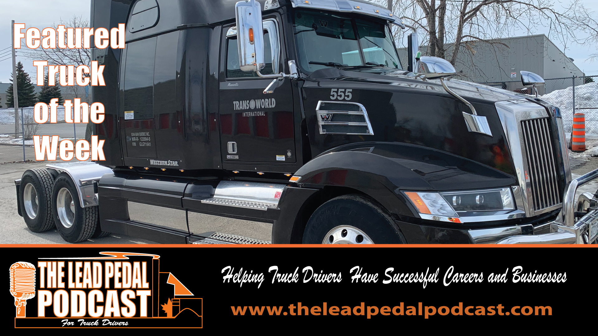 LP618 Featured Truck of the Week-Black 5700 Western Star