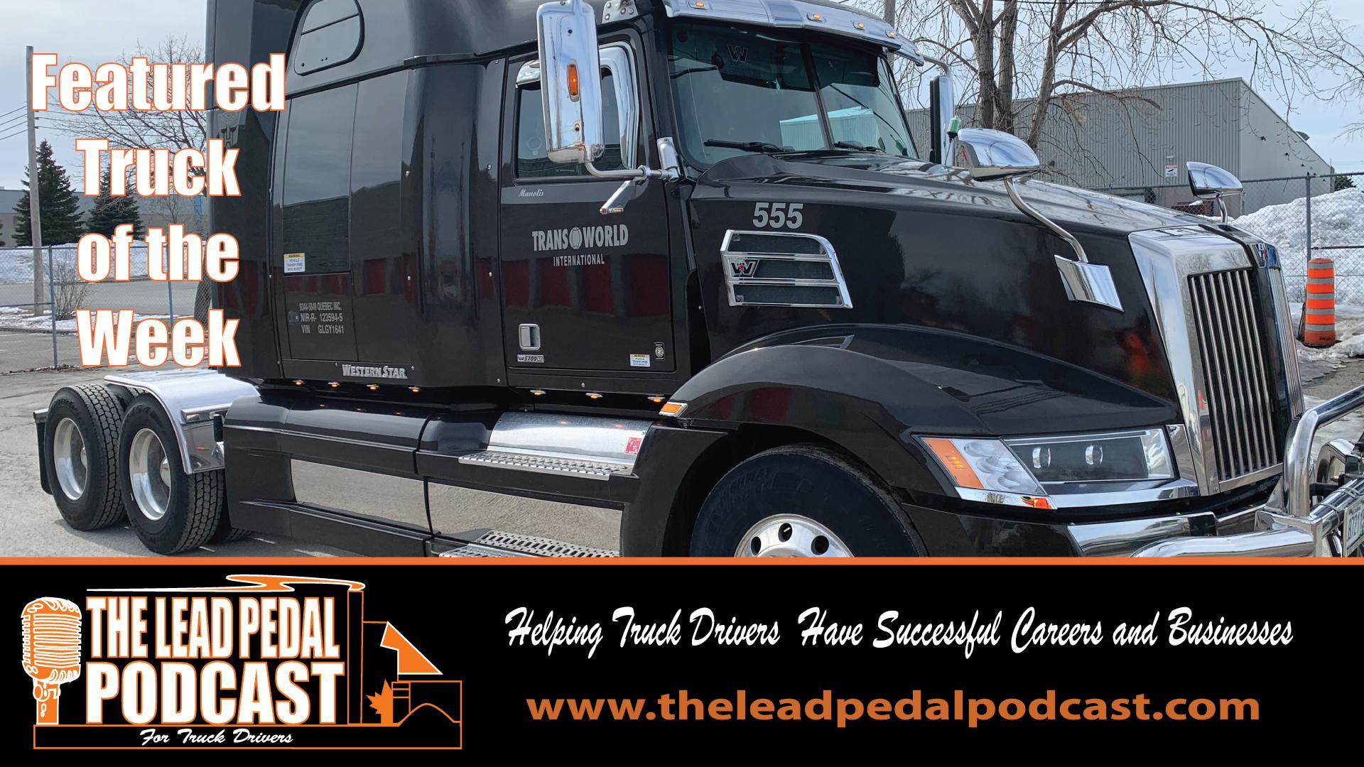 LP618 Featured Truck of the Week-Black 5700 Western Star
