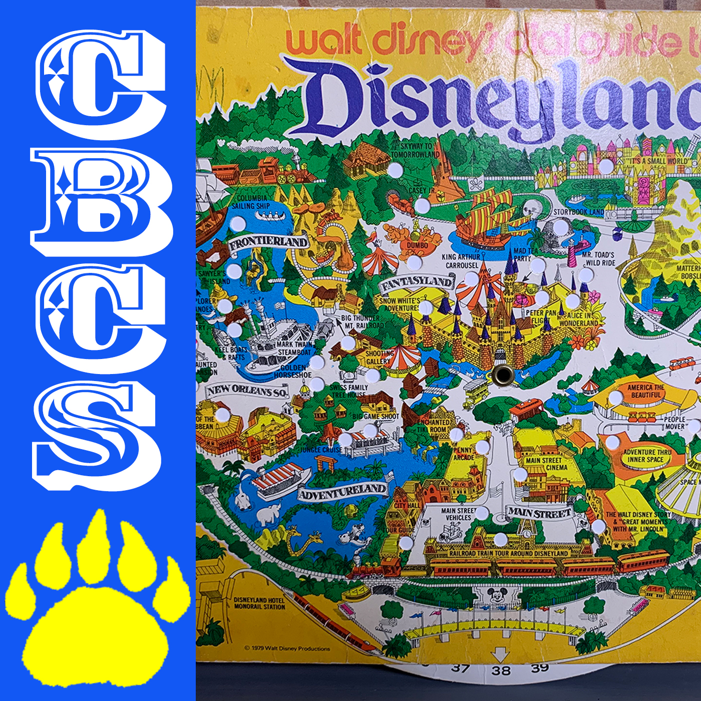 Artwork for 1979 Disneyland Dial Map featuring Bear Country - Country Bear Collector Show #210