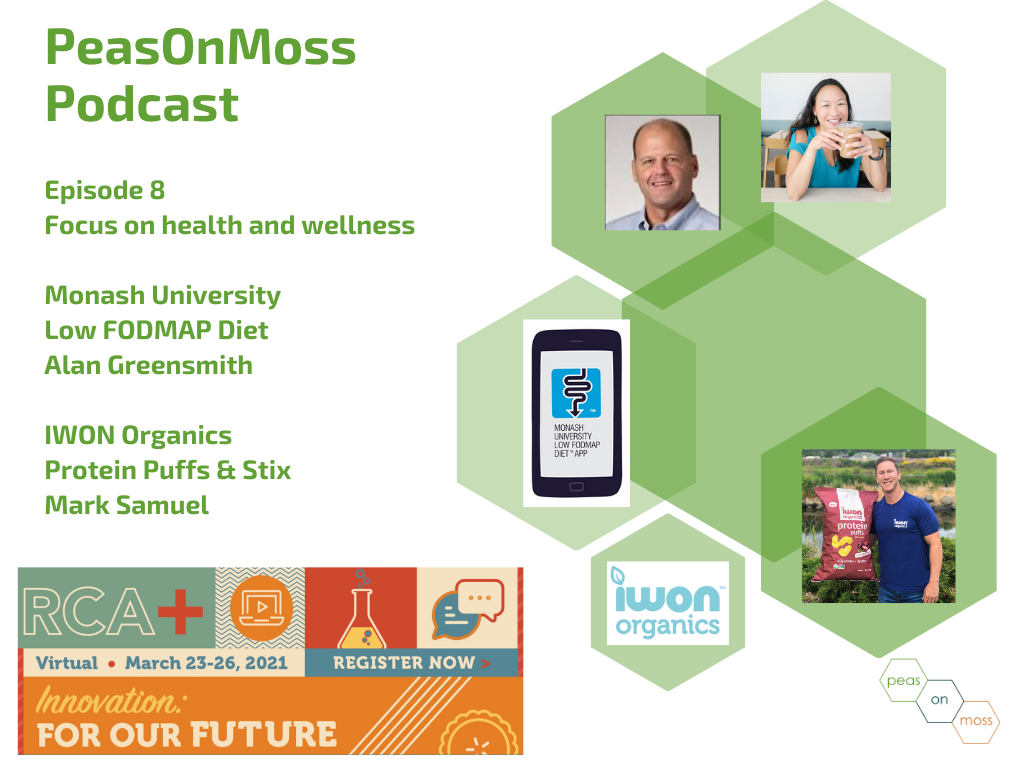Episode 8: Health and wellness in food products with IWON Organics and Monash Univ Low FODMAP diet