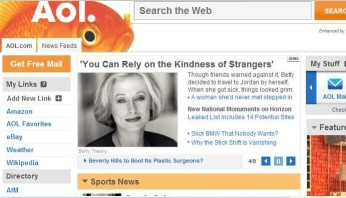 Betty on the front page of AOL!