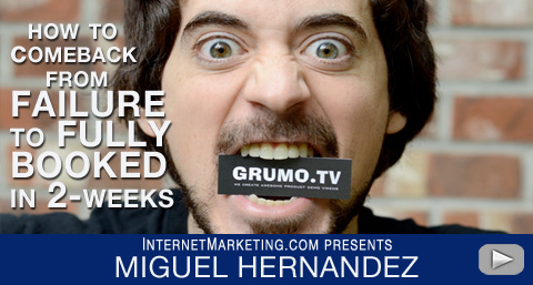 Broke To Fully Booked in 2-Weeks with Grumo.TV with Miguel Hernandez - Online Marketing - Online Business Idea