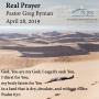 Artwork for Real Prayer, by Pastor Greg Byman