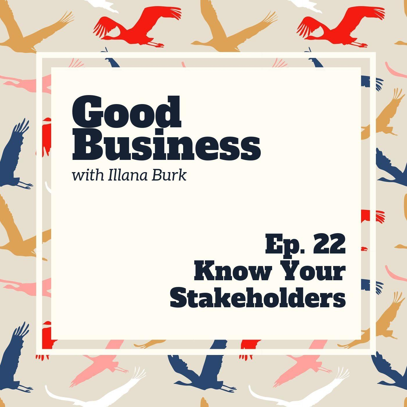 Know Your Stakeholders | GB22