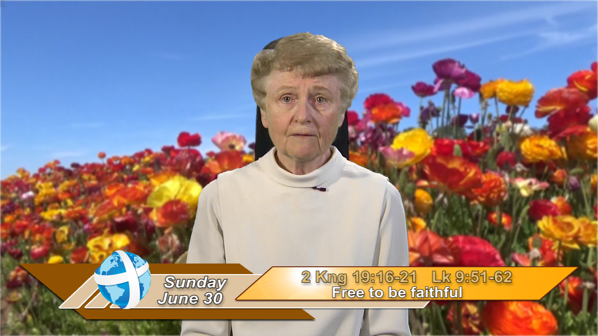Artwork for iGod Today with Sr. Jeanne Harris, OP;  Today's topic:  Free to be faithful
