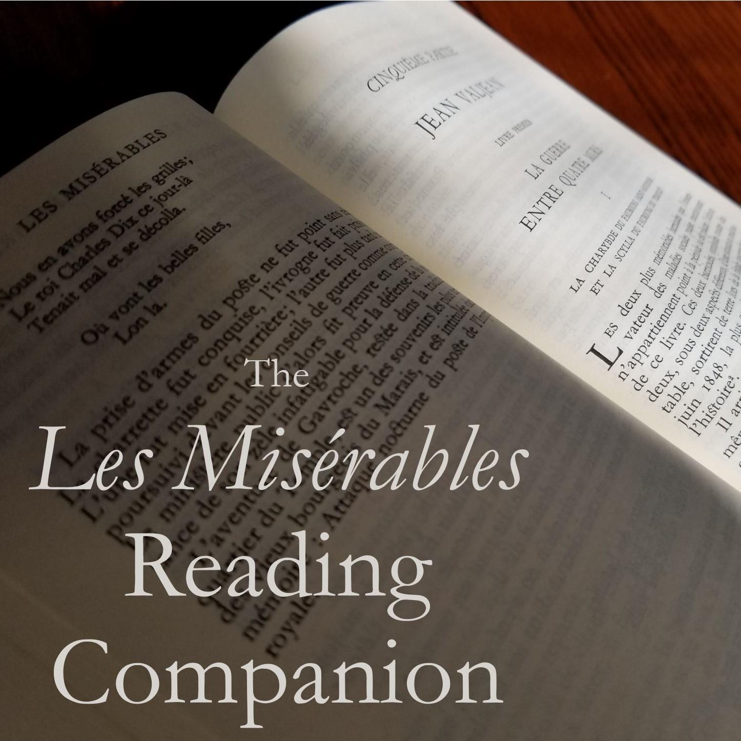 The Les Misérables Reading Companion show art