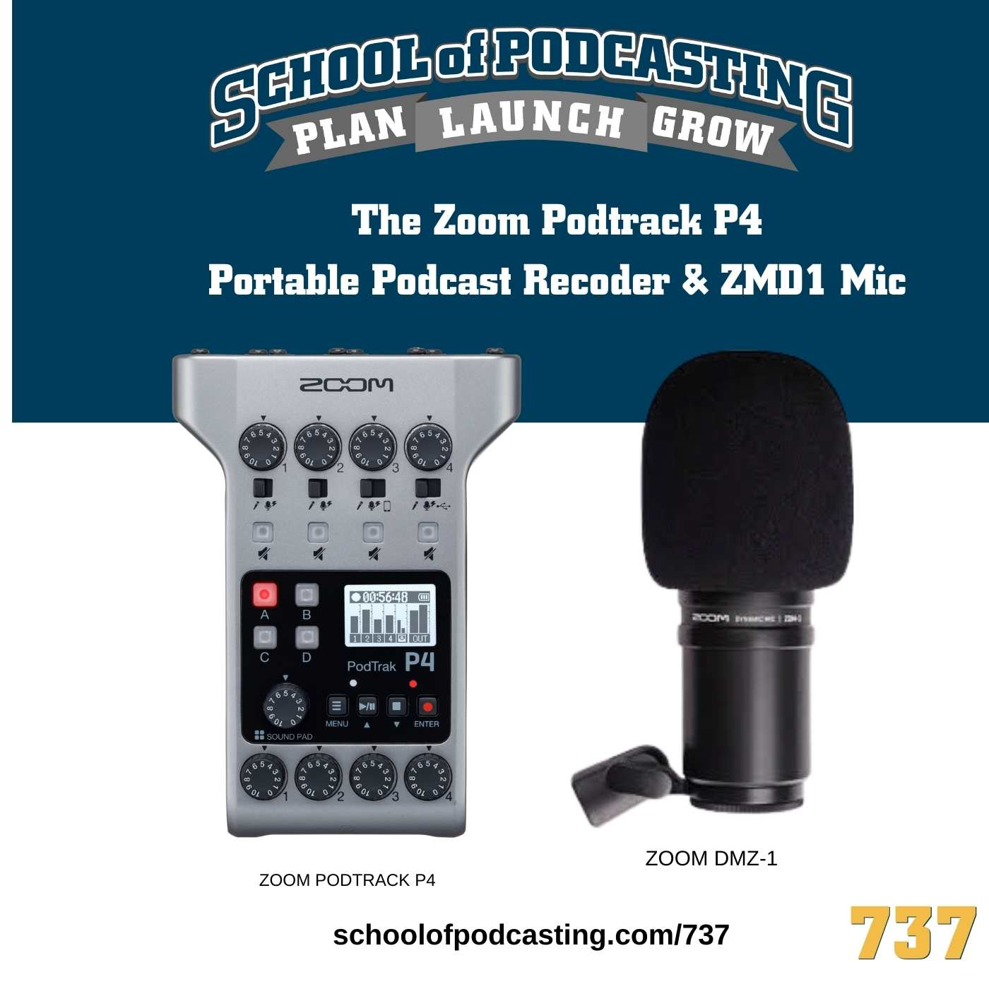 The Zoom Podtrack P4 Portable Podcast Recorder
