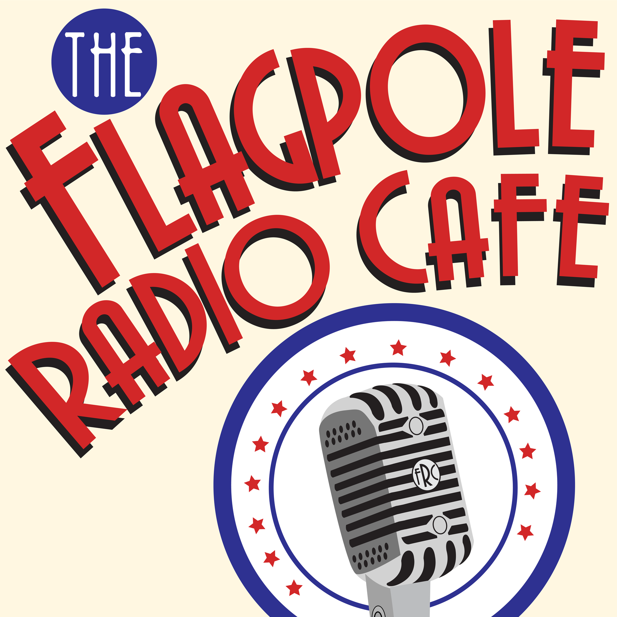 Flagpole Radio Cafe (the podcast) show art
