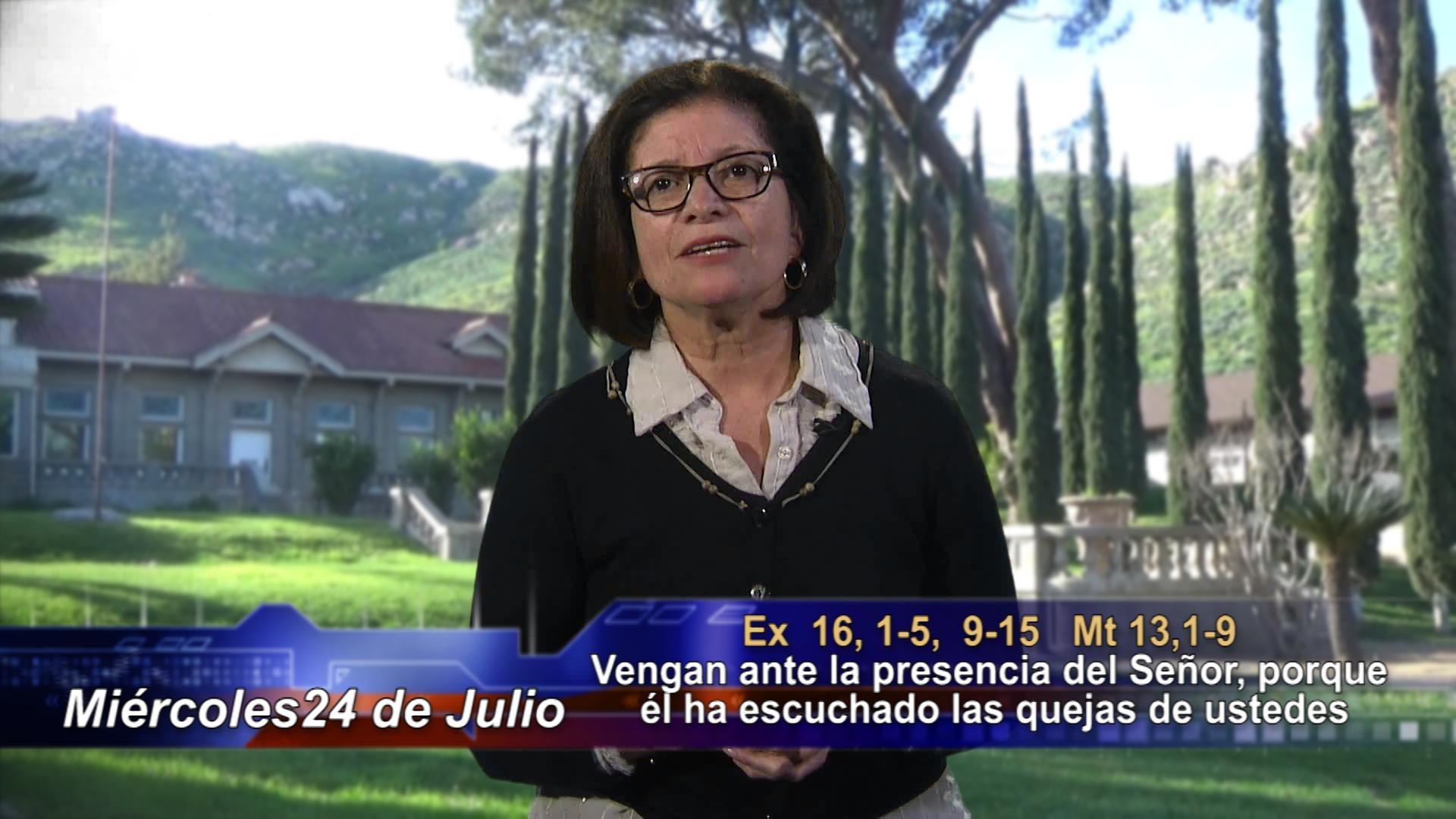 """Artwork for Dios te Habla con Maria Eva Hernandez;   El tema: """"Vengan ante la presencia del Señor, porque él ha escuchado las quejas de ustedes""""."""