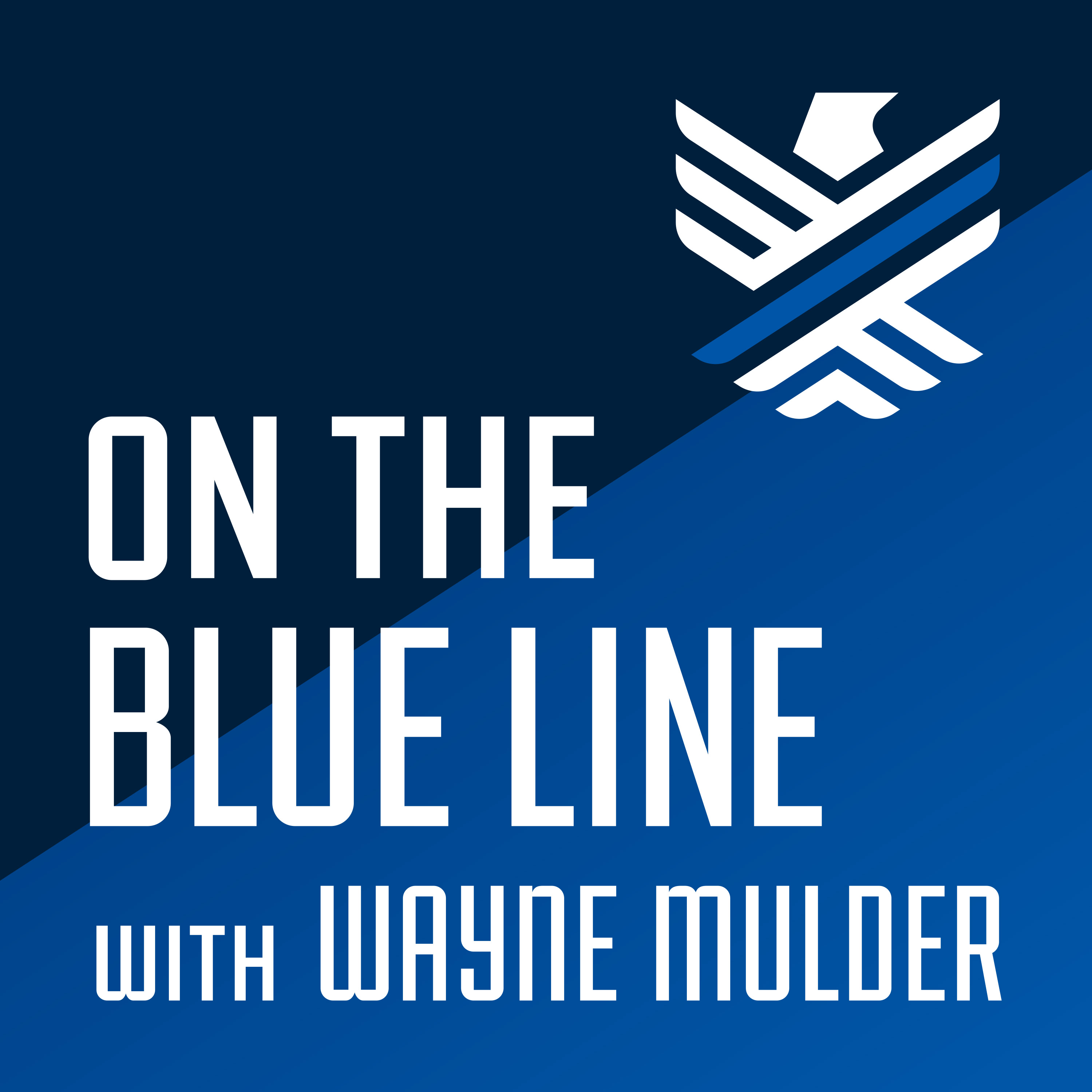 On the Blue Line Podcast show art