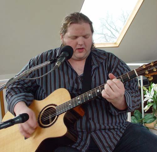 Matt Andersen in session