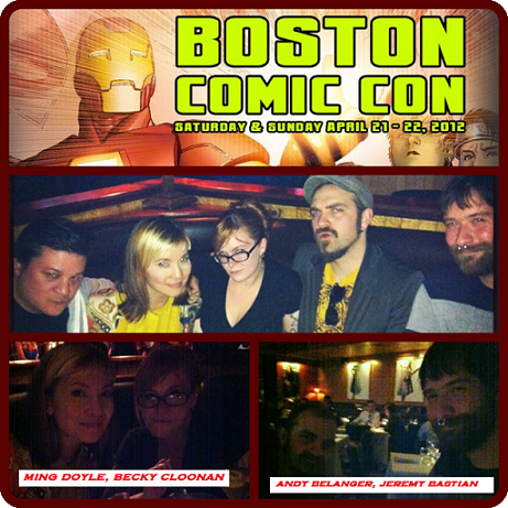 Episode 399 - Boston Comic Con: Dinner For Five w/ Jeremy Bastian, Andy Belanger, Becky Cloonan, Ming Doyle