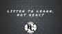 Artwork for Listen to learn, not react