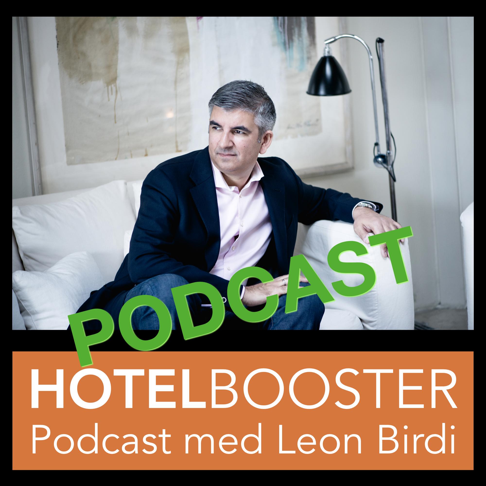 Hotelbooster Podcast med Leon Birdi show art