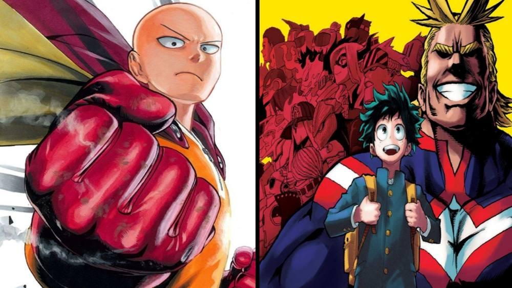 Manga Corner - One Punch Man & My Hero Academia