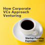 Artwork for Startup Funding Espresso -- How Corporate VCs Approach Venturing
