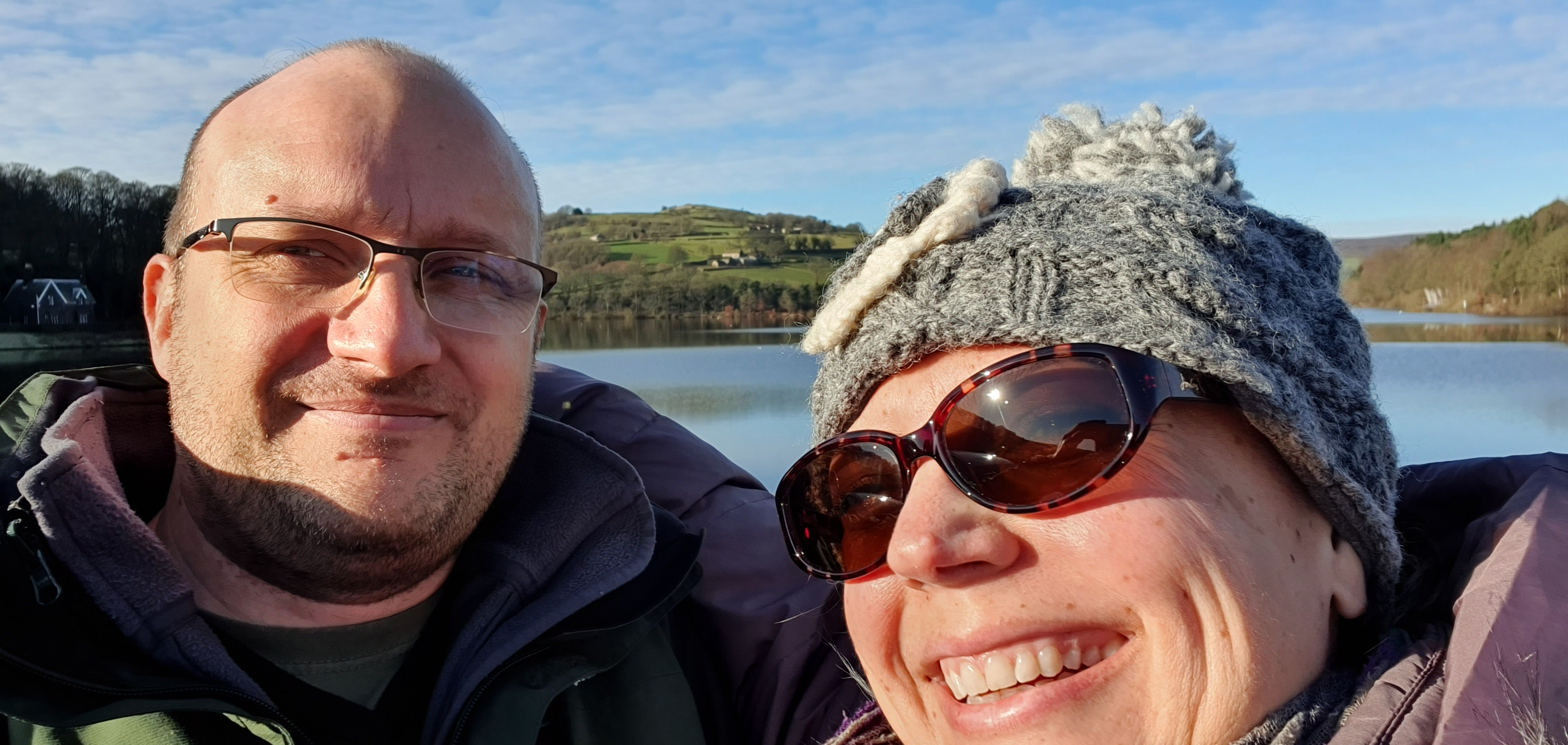 Me and my hubby at Damflask Reservoir