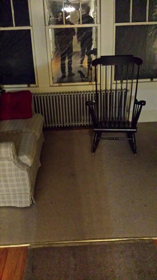 Chairs at end of hallway