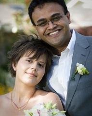 Newlywedcast - Catherine & Salil's Backyard Wedding