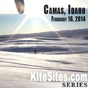 Snowkite Idaho February 16, 2014