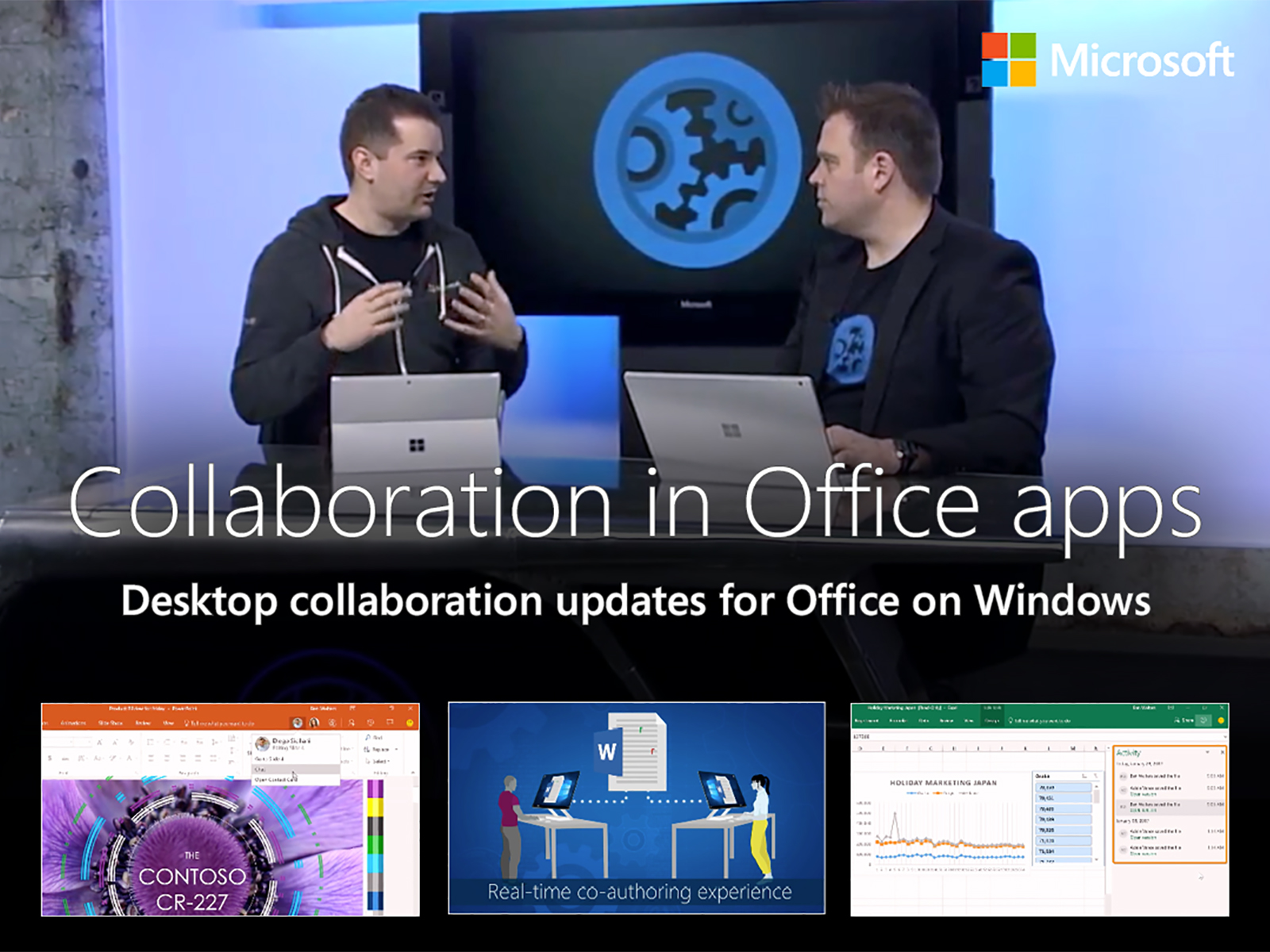 Artwork for Collaboration updates across your Office apps