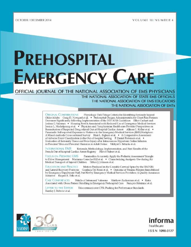 Prehospital Emergency Care Podcast October 2014