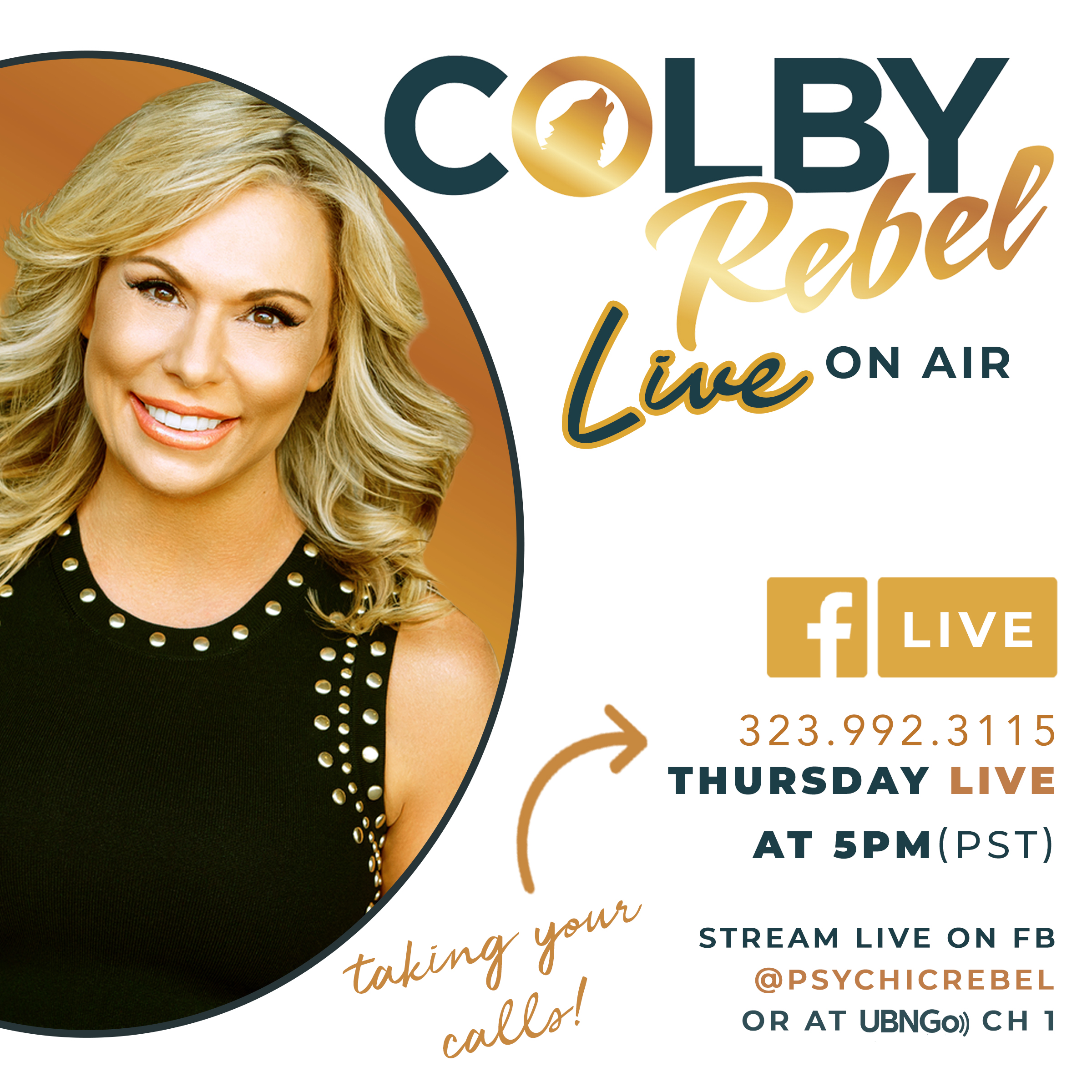 Colby Rebel LIVE show art