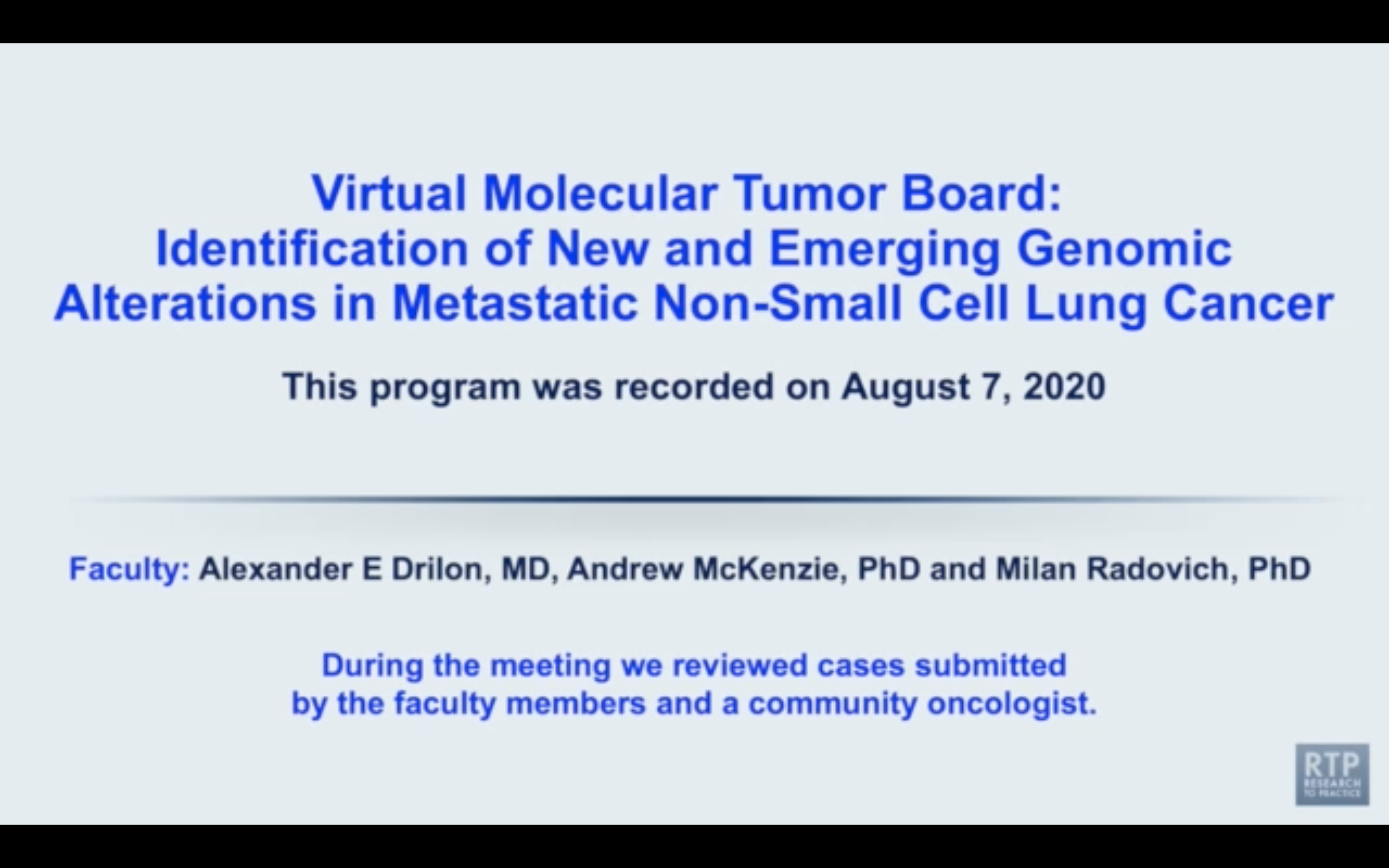 Artwork for Multitumor | Virtual Molecular Tumor Board: Identification of New and Emerging Genomic Alterations in Metastatic Non-Small Cell Lung Cancer