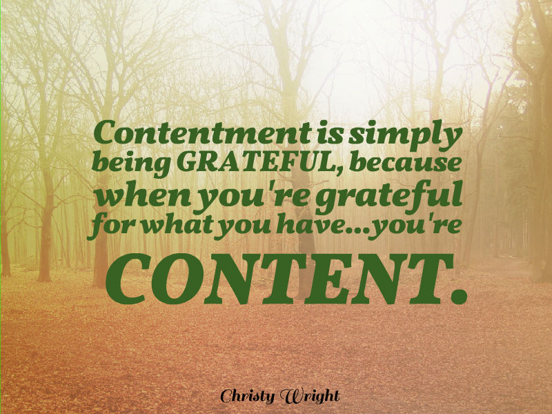 """Finding CONTENTMENT in a World of Comparison"" with Christy Wright"