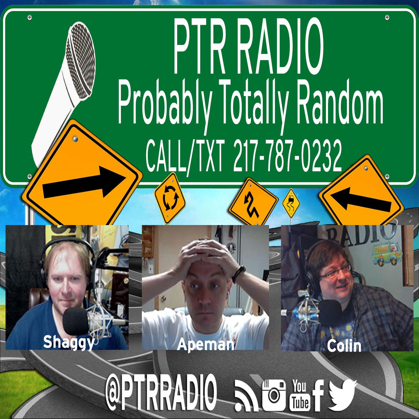 PTR Radio (Probably Totally Random) show art