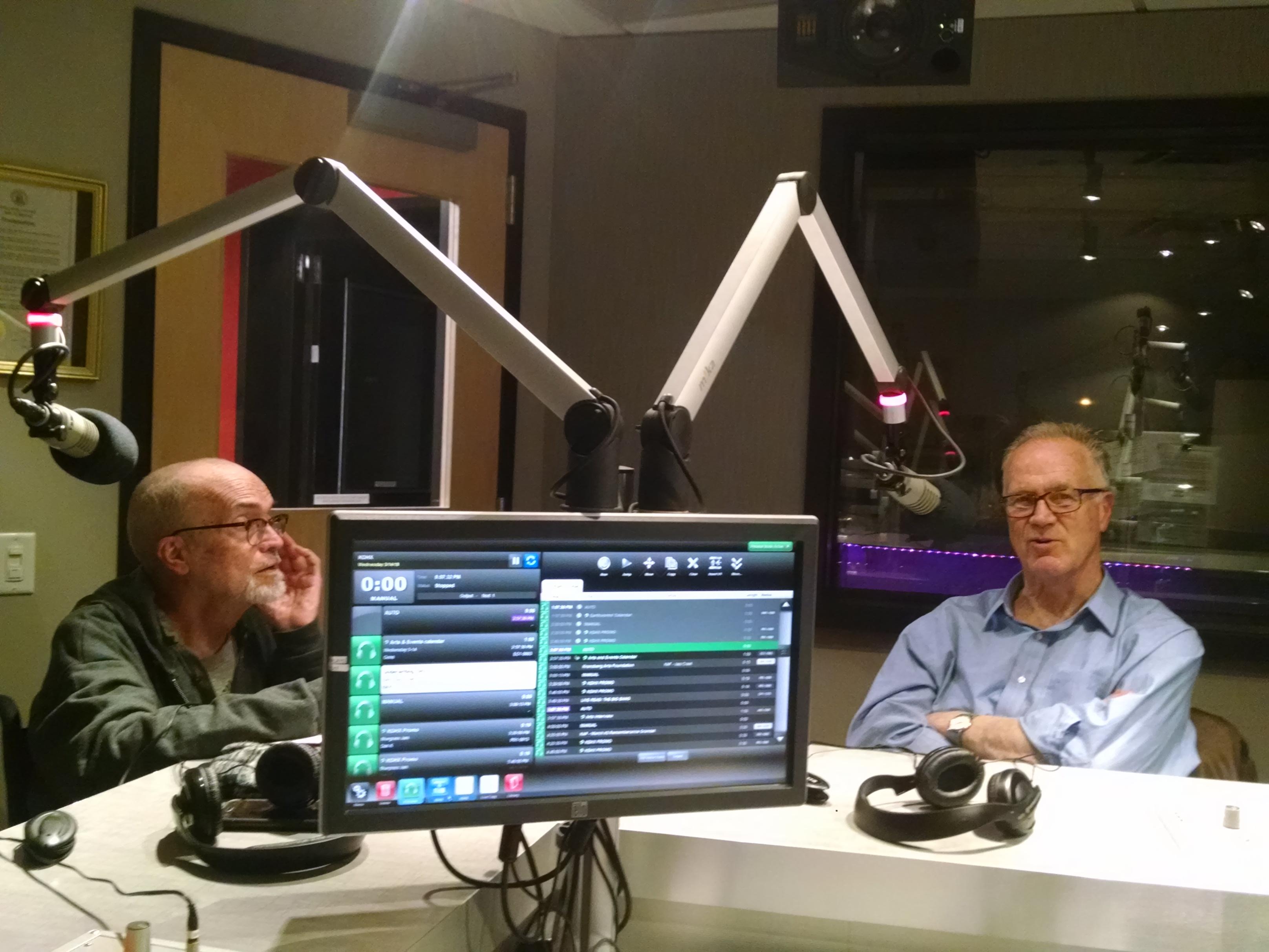 DJ Wilson with Professor Todd Swanstrom